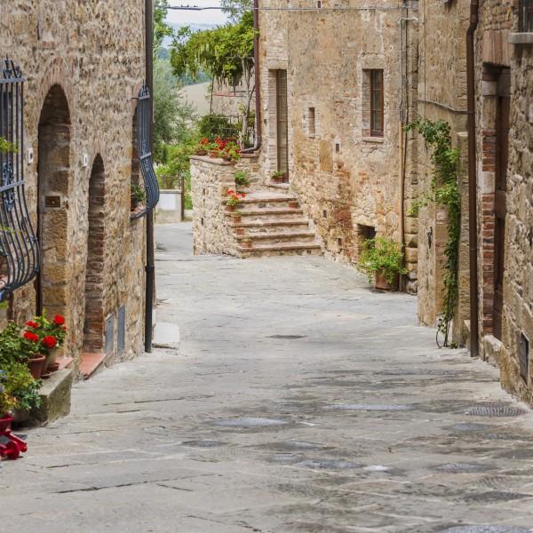 Street of Monticchiello, Tuscany